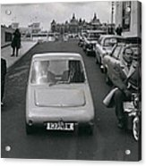 A Demonstration Of Electric Vehicle In London Acrylic Print