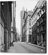 A Deserted Wall Street Acrylic Print