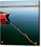 A Dinghy On A Calm Sea, Port Clinton Acrylic Print