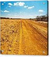 A Dirt Road In The Desert Acrylic Print