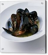 A Dish Of Mussels Acrylic Print