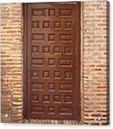 A Door In Toledo Acrylic Print