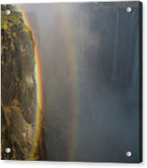 A Double Rainbow At Victoria Falls Acrylic Print