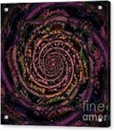 A Downward Spiral Acrylic Print