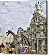A Dragon In Philly Acrylic Print