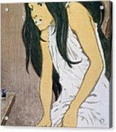 A Drug Addict Injecting Herself Acrylic Print