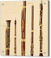 A Dulcian, An Oboe, A Bassoon Acrylic Print