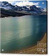 A Dusting On Glacier Acrylic Print