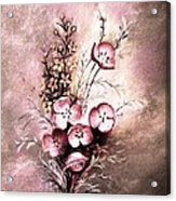 A Dusty Rose Bouquet Acrylic Print