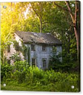 A Fading Memory One Summer Morning - Abandoned House In The Woods Acrylic Print