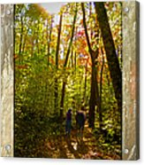 A Fall Walk With My Best Friend Acrylic Print
