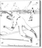 A Falling Baseball Player Fails To Catch A Ball Acrylic Print