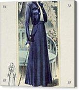 A Fashionable French Lady Acrylic Print