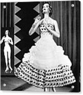 A Fashionable Mannequin And Her Unclothed Version In The Backgro Acrylic Print by Underwood Archives