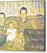A Father To The Fatherless Acrylic Print
