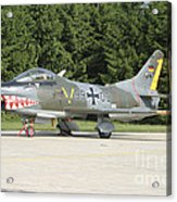 A Fiat G-91 Fighter Plane Of The German Acrylic Print