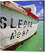 A Fishing Boat Named Sledge II Acrylic Print by David Letts