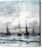 A Fishing Fleet Acrylic Print