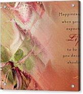 A Fleur De Peau - Happiness Quote 03 Acrylic Print