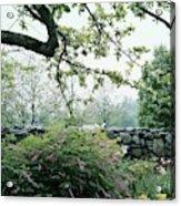 A Flower Bed In Mrs. Frank Audibert's Garden Acrylic Print