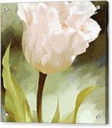 One Beautiful Flower Impressionism Acrylic Print