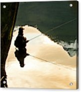 A Fly Fisherman Standing In A River Acrylic Print