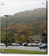 A Foggy Autumn Day At The United States Military Academy Acrylic Print