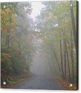 A Foggy Drive Acrylic Print