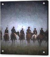 A Foggy Gettysburg Morning - Oil Acrylic Print