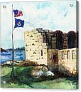 A Fort In Maine Acrylic Print