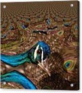 A Fractual Peacock  Acrylic Print