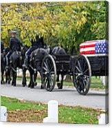 A Funeral In Arlington Acrylic Print