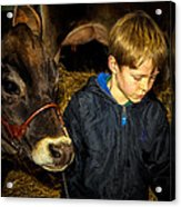 A Future Farmer In The Making Acrylic Print