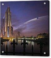 A Futuristic City On An Acrylic Print