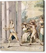 A Game Of Blind Mans Buff, C.late C18th Acrylic Print