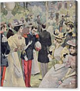 A Garden Party At The Elysee Acrylic Print