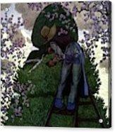 A Gardener Pruning A Tree Acrylic Print