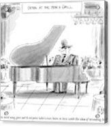 A General Plays Piano At A Bar Acrylic Print