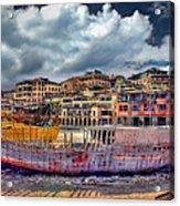 A Genesis Sunrise Over The Old City Acrylic Print