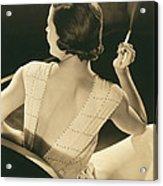 A Glamourous Woman Smoking Acrylic Print