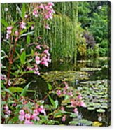 A Glimpse Of Monet's Pond At Giverny Acrylic Print