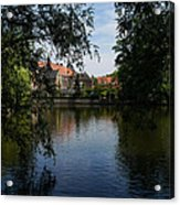A Glimpse Through The Trees - Bruges Belgium Acrylic Print
