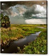 A Glow On The Marsh Acrylic Print