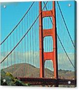 A Golden Gate View Acrylic Print