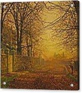 A Golden Shower Acrylic Print