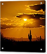 A Golden Southwest Sunset  Acrylic Print