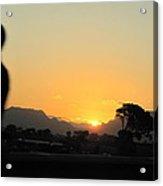 A Golden Sunset  Acrylic Print