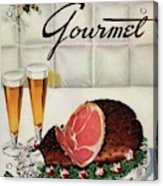 A Gourmet Cover Of Ham Acrylic Print