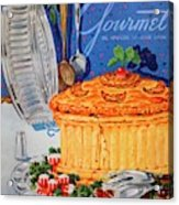 A Gourmet Cover Of Pate En Croute Acrylic Print