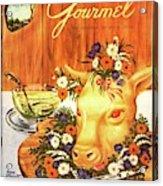 A Gourmet Cover Of Tete De Veau Acrylic Print